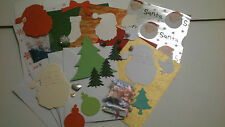 CHRISTMAS CARD KIT TO MAKE 5 X A6 CARDS INC CARDS & ENVS TOPPERS & BACKING PAPER