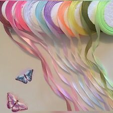 Job lot Mix 30 Yards of 10mm W Pastel Colour Satin Ribbon,10ColourX3 Yards #08