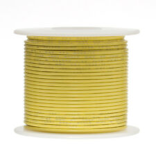 """18 AWG Gauge Solid Hook Up Wire Yellow 100 ft 0.0403"""" UL1007 300 Volts"""