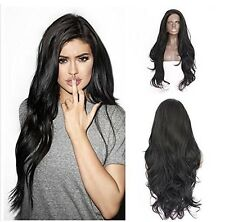 Natural Kardashian Kylie Jenner black long wavy Lace front Celebrity Womens Wig