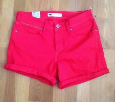 Levi Strauss & Co. 27 Red Denim Women's Shorts W 30""