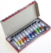 12 x 10ml Tubes Tempera Water Colour Arts Crafts Paint Tubes Set -  WamiQ