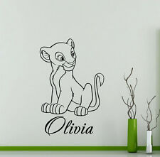 Personalized Lion King Wall Decal Nala Custom Name Vinyl Sticker Art Decor 46ct
