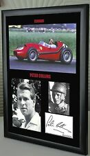 "Peter Collins F1 Ferrari Framed Canvas Signed Print ""Great Gift"""