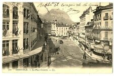 CPA 38 Isère Grenoble La place Grenette animations
