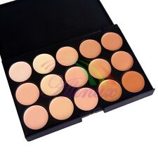 15 x Colors Neutral Concealer Camouflage Cream Cosmetic Palette Makeup Tip Kit