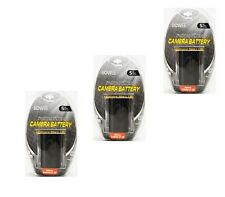 THREE 3X Batteries LP-E6 LP-E6N for Canon SLR EOS 5D Mark II EOS 7D 6D 70D 60D