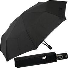 PICARD,Unisex Regenschirm Schwarz,Taschenschirm,Schwarzer Schirm,Black Umbrella