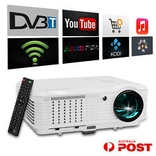 Android WiFi Digital TV DVBT 4500lm LED LCD Projector HD USB Home Theater 7500:1