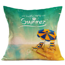 Summer Print Sofa Bed Home Decoration  Pillow Case Cushion Cover Square Case
