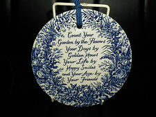 #5 Gorgeous Vintage Royal Crownford Ironstone Wall Hanging Blue Transfer Plate