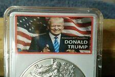 """2016 American Silver Eagle - """"DONALD TRUMP AMERICA'S 45th PRESIDENT"""""""
