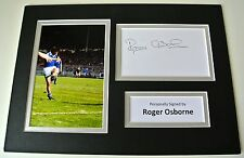Roger Osborne SIGNED autograph A4 Photo Mount Display Ipswich Football COA