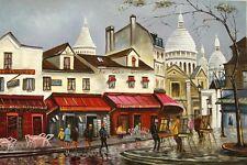 "Impressionism Oil Painting - ""Paris - Montparnasse"" Size:36""x24"""