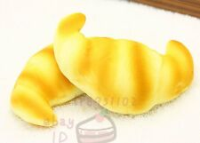 Jumbo 12CM CROISSANT Squishy Bread Cream Scented Toy Hand Pillow Decor
