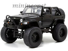 JADA JUST TRUCKS 97447 OFF ROAD 2007 JEEP WRANGLER 1/24 DIECAST MODEL CAR BLACK