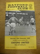 20/12/1969 Watford v Oxford United  . Thanks for viewing this item, buy with con