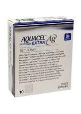 """Aquacel AG Extra Silver Hydrofiber Wound Dressing 5cm x 5cm, 2""""x2"""" x10 420671"""