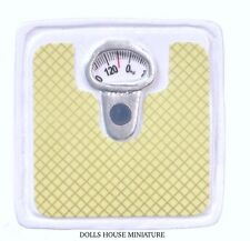 Green & White Bathroom Weighing Scale, Dolls House Miniatures, Weight