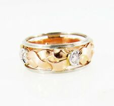 Vintage Retro Custom 14K Rose Gold Heirloom Estate Jewelry Stacking Band Ring