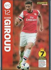 MOTD-POSTER 2013/14-ARSENAL & FRANCE-MONTPELLIER-TOURS-GRENOBLE-OLIVIER GIROUD