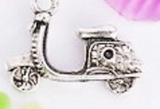 LOVELY SILVER VESPER SCOOTER BIKE CLIP ON CHARM FOR BRACELETS - SILVER  ALLOY