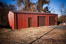 Metal Garage Workshop Building 24'x30'x9' Do-It-Yourself Steel Building Kit