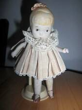 """Marked Made in Japan ~ Vintage 5 1/2"""" Bisque Little Girl Doll or Early NASB ?l"""
