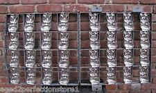 Old 'Happy Easter' Bunny Industrial Chocolate Candy Mold large metal 16 rabbits