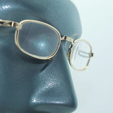 Folding Pocket Reading Glasses Mid Size Gold Metal Frame +2.75 Lens Strength