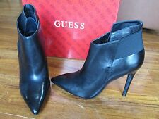 NEW GUESS OLIVA BOOTIES WOMENS SZ 9 BLACK LEATHER ANKLE BOOTS $129.