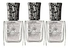Lot of 3 SALLY HANSEN CRACKLE OVERCOAT - 0.4 FL OZ - BRAND NEW - FRACTURED FOIL