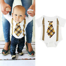 Newborn Toddler Kids Baby Boy Clothes Bodysuit Romper Jumpsuit Playsuit Outfits