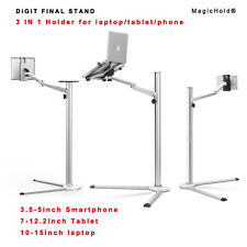 "Height adjusting 360º rotate laptop & ipad Pro /tablet(7-13"") stand fr floor/bed"