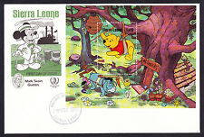 1985 Sierra Leone Mark Twain Quotes First Day Cover FDC Walt Disney Mini Sheet