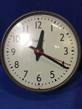"10"" SIMPLEX SLAVE CLOCK SCHOOLHOUSE ELECTRIC HANGING WALL GLASS FACE 507-042"