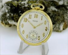 Runs Vintage 1936 WALTHAM PREMIER Colonial Riverside 21j Open Face Pocket Watch