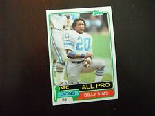 Billy Sims Detroit Lions Rookie Card Oklahoma Sooners 1981 Topps #100 Near Mint