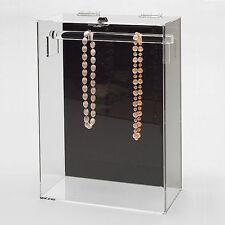 """Acrylic Necklace Display Jewelry Showcase w Top Bar 10 1/4"""" x 5 1/4"""" x 15""""H"""