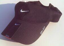 NEW! Black NIKE TAILWIND Men-Women's Adult Runner Cap Training DRI-FIT Golf Hat