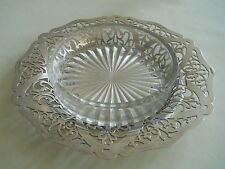 Sterling Silver Glass Butter Dish
