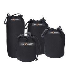 4 Pcs Neoprene DSLR Camera Lens Soft Protector carry Pouch Bag Case Set S M L XL