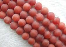 5 Strands 10mm Matte Red Agate DIY Round Loose Beads Wholesale