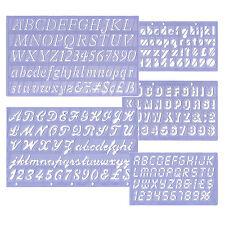 Beschriftungsschablonen Schriftschablonen Beschriften Schablonen Ziffern Zahlen