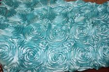 "ROSETTE SATIN FABRIC 3-DIMENSIONAL 52""/54""WIDE BY THE YARD HOME DECOR"