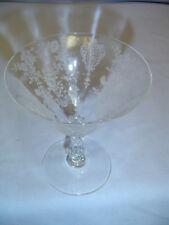 "Rose Point Pattern By Cambridge Clear Stem Is 4.75"" Tall Vintage"