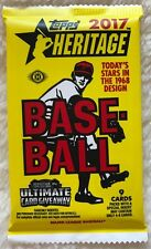 2x 2017 Topps Heritage HOBBY Pack (Real One Auto/Clubhouse Relics/3D Set Cards)?
