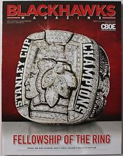 2010-11 Chicago Blackhawks Program Stanley Cup Championship Ring Cover