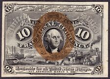 US 10c Fractional Currency 1st Issue w/o Surcharge FR 1244 Ch CU
