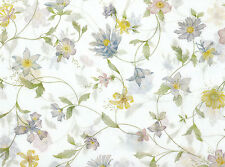 Wildflower Tissue Paper on White #335 ~ 10 Large Sheets